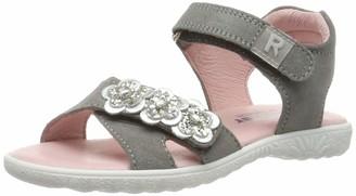 Richter Kinderschuhe Girls Sole Ankle Strap Sandals Grey (Rock/Silver 6101) 13 UK