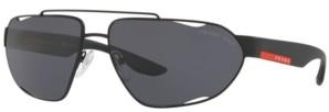 Prada Linea Rossa Polarized Sunglasses, Ps 56US 66