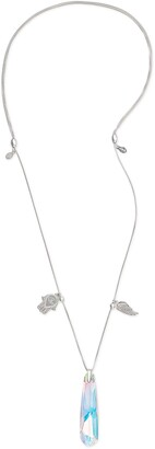 Alex and Ani Guardian Trio Crystal Pendant Necklace
