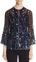 Elie Tahari Orion Embellished Blouse