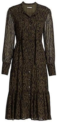 Derek Lam 10 Crosby Sammy Abstract Leopard Shirtdress