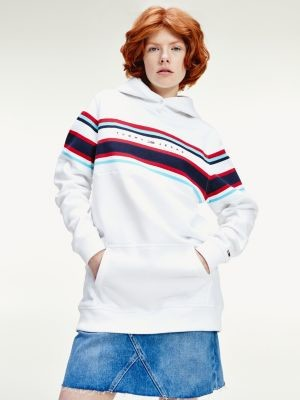 Tommy Hilfiger Colour-Blocked Logo Relaxed Fit Hoody