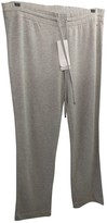 Escada Grey Cotton Trousers for Women