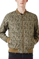Topman Abstract Camo Print Bomber Jacket