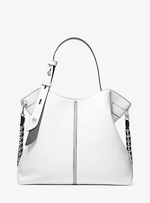 Michael Kors Downtown Astor Large Pebbled Leather Shoulder Bag