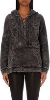 The Kooples Acid-wash jersey hoody