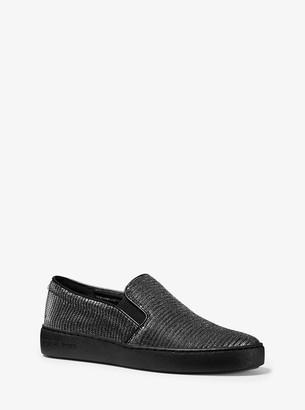 MICHAEL Michael Kors Keaton Glitter Chain-Mesh Slip-On Sneaker