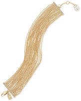 Lauren Ralph Lauren Gold-Tone Pavé & Imitation Pearl Ball Chain Bracelet