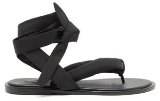 Ganni Wraparound Recycled-fabric Sandals - Black