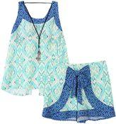 Speechless Girls 7-16 Mosaic Tank Top, Shorts & Necklace Set