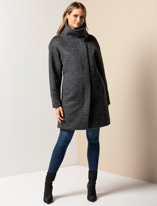 Ever New Cameo Funnel-Neck Coat