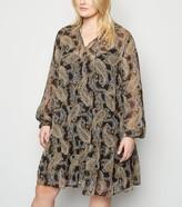 New Look Curves Paisley Print Smock Dress