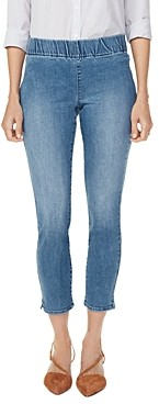 NYDJ Petites Pull-On Skinny Ankle Jeans in Clean Brickell