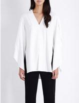 Dion Lee V-neck stretch-crepe blouse