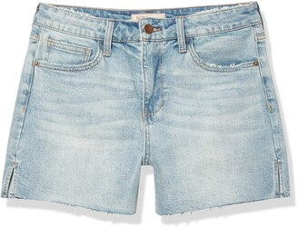 BCBGeneration Women's High-Rise Cut Off Short
