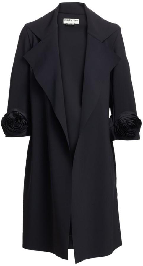 Chiara Boni Margit Rose Trench Coat
