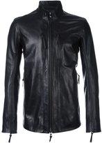 11 By Boris Bidjan Saberi high neck zipped jacket - men - Leather/cotton/Spandex/Elastane - M