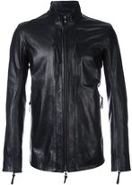 11 By Boris Bidjan Saberi high neck zipped jacket - men - Leather/Spandex/Elastane/cotton - M