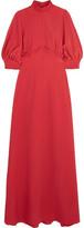 Emilia Wickstead Natasia Gathered Crepe Maxi Dress - Brick