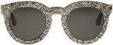 Saint Laurent Black and Silver Sl 102 Sunglasses