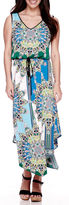 London Times London Style Collection Sleeveless Floral Blouson Maxi Dress - Petite