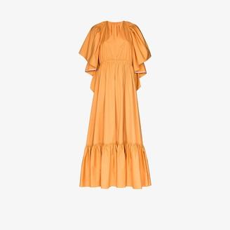 Roksanda Constance cutout back ruffled maxi dress
