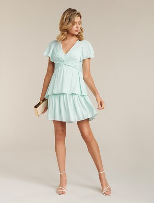 Forever New Siska Petite Twist Front Mini Dress - Mint - 6