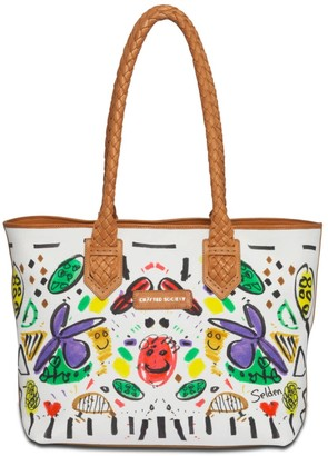 Crafted Society Tote - Selden Art Canvas & Vachetta Leather