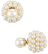 Anne Klein Faux-Pearl Front/Back Earrings