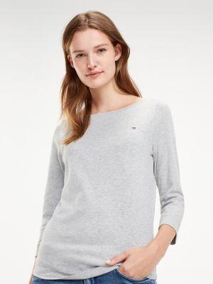 Tommy Hilfiger 3/4 Sleeve Boat Neck T-Shirt
