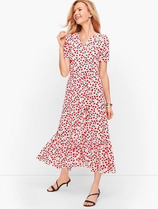 Talbots Cascade Wrap Dress - Floral