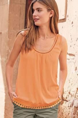 Next Womens Orange Trapeze Cami Top - Orange