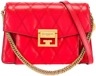 Givenchy Small Quilted Leather GV3 in Red | FWRD