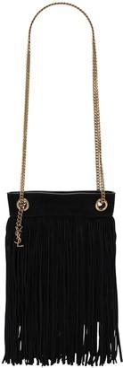 Saint Laurent Grace Suede Shoulder Bag W/ Fringe