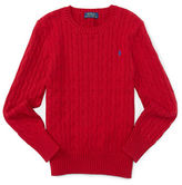 Ralph Lauren Boys 8-20 Cable Knit Pullover