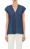 Derek Lam Women's Denim Relaxed Tunic-BLUE