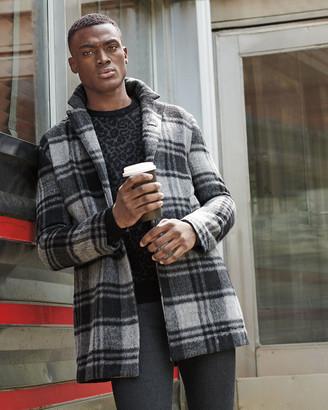 John Varvatos Star USA Mens Boulder Ls Mohair Leopard Jacquard Crew Sweater