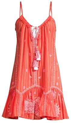 Ramy Brook Selma Braided Tassel V-Neck Mini Dress