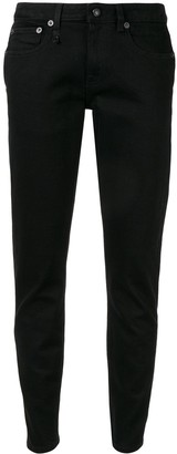 R 13 tapered low-rise jeans