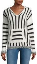 Saks Fifth Avenue RED Stripe Knit Hoodie