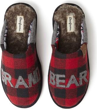 Dearfoams Grand Bear Buffalo Scuff Slipper