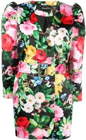Richard Quinn V-neck buttoned floral print jacket