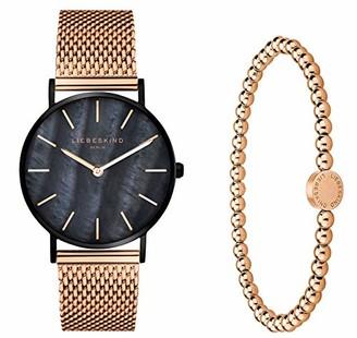 Liebeskind Berlin Watch and Bead Bracelet Set LS-0088-MQB