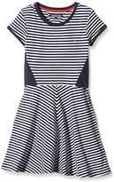 Tommy Hilfiger Girl's Resa Knit Short Sleeve Striped Dress,4