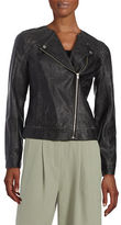 Lord & Taylor Leatherette Moto Jacket