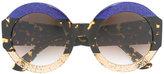 Gucci glitter tortoiseshell sunglasses - women - Acetate - 51