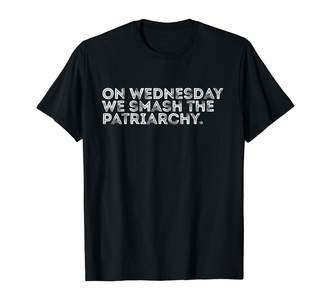 Smash Wear Just Joshua On Wednesday we the Patriarchy distressed design T-Shirt
