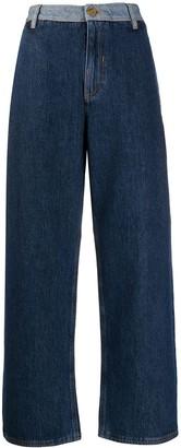 McQ Swallow Wide Leg Jeans