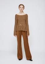 Rachel Comey Taupe Oblique Pullover