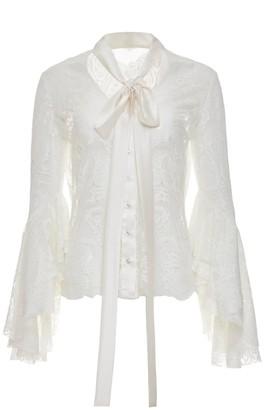 Jiri Kalfar Lace Shirt With Flared Sleeves